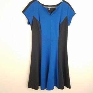 Chaps dress blue black color block Size 14